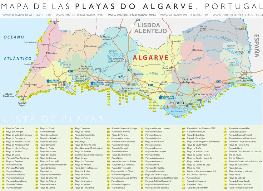 mapa-de-playas-do-algarve