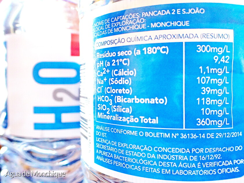 Monchique agua con un PH superior a 9